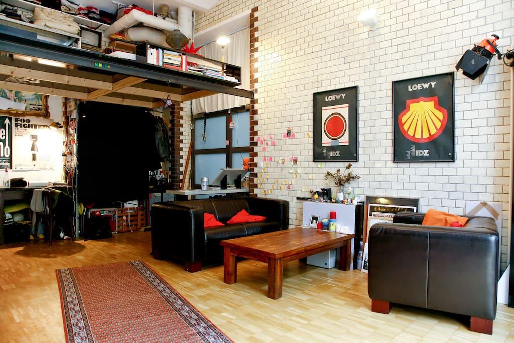 Big comfy Loft/Studio at Canal