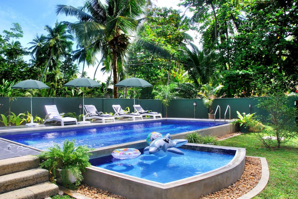 5 Br Private Holiday Villa With A Pool Villas For Rent In Hikkaduwa Southern Province Sri Lanka