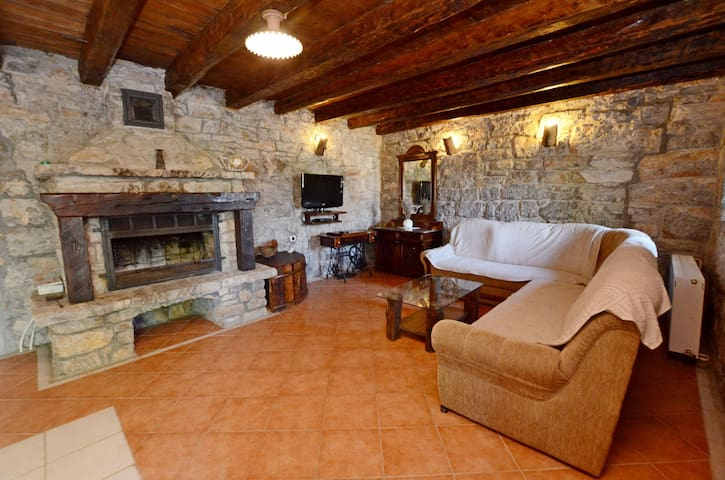 Three Bedroom Stone house, in the countryside in Jurdani, Outdoor pool, Terrace