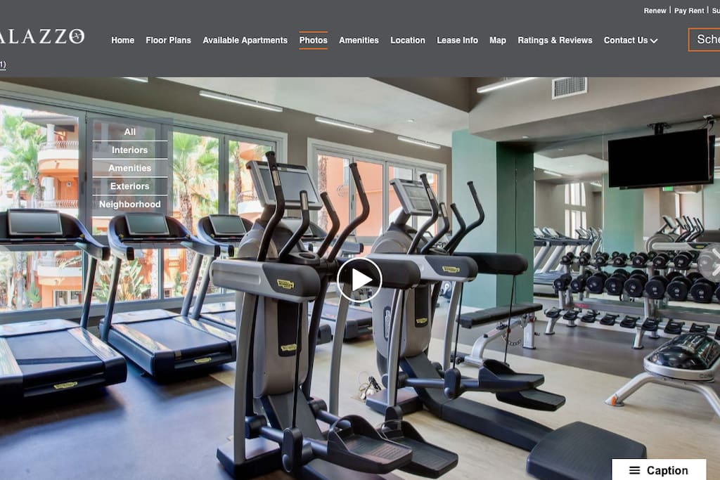 State-of-the-art fitness center equipped with new TechnoGym equipment and TV's throughout