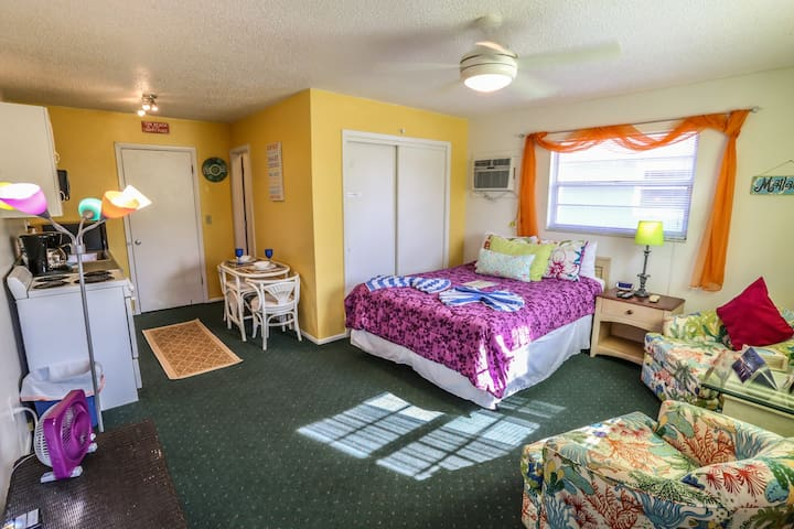 The Beach Bungalow is a studio apartment within a four plex at Iguana Mamas Beach House
