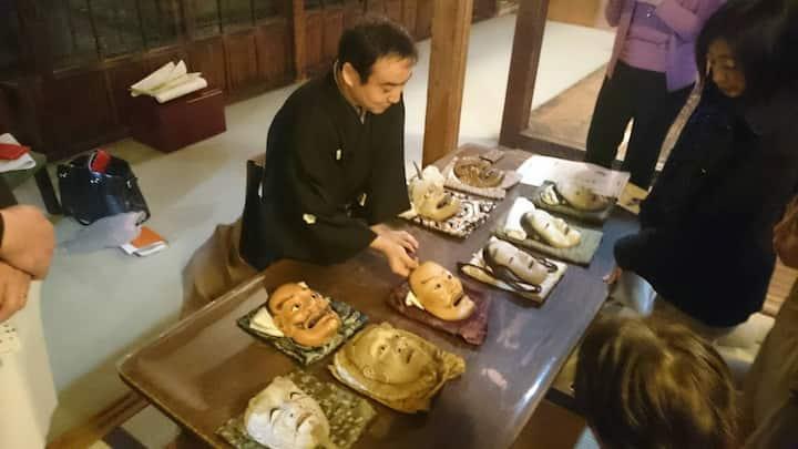 Mr.Asami and various noh masks