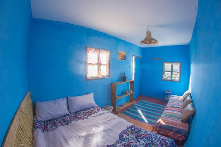 Beach hostel double room sea view