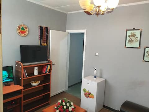 The place is 10 minutes driving from air port.