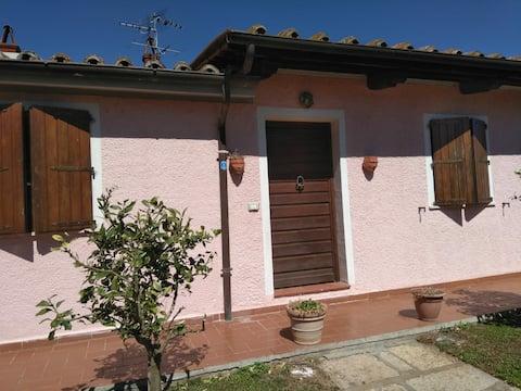 Rustik lejlighed på landet i Toscana   B