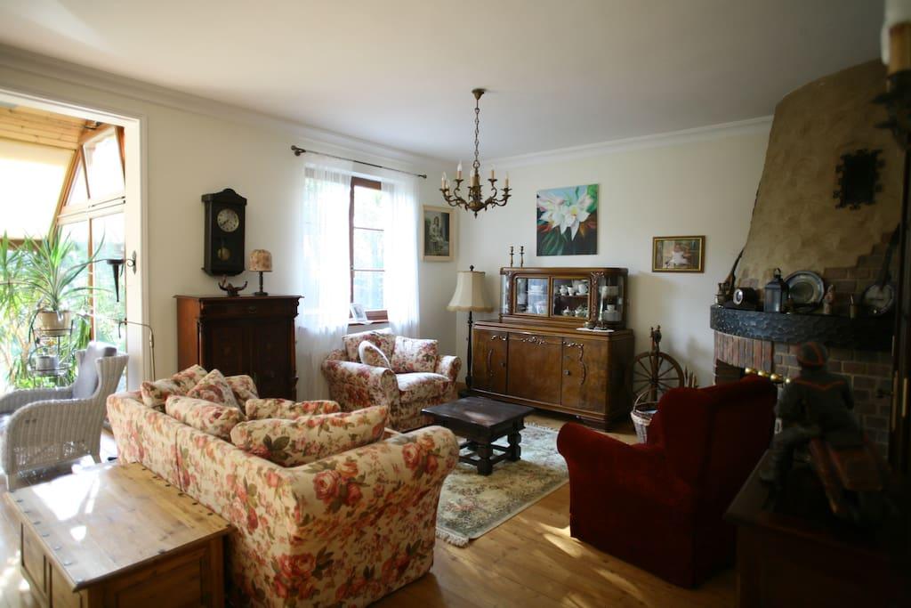 Salon z kominkiem / Living room