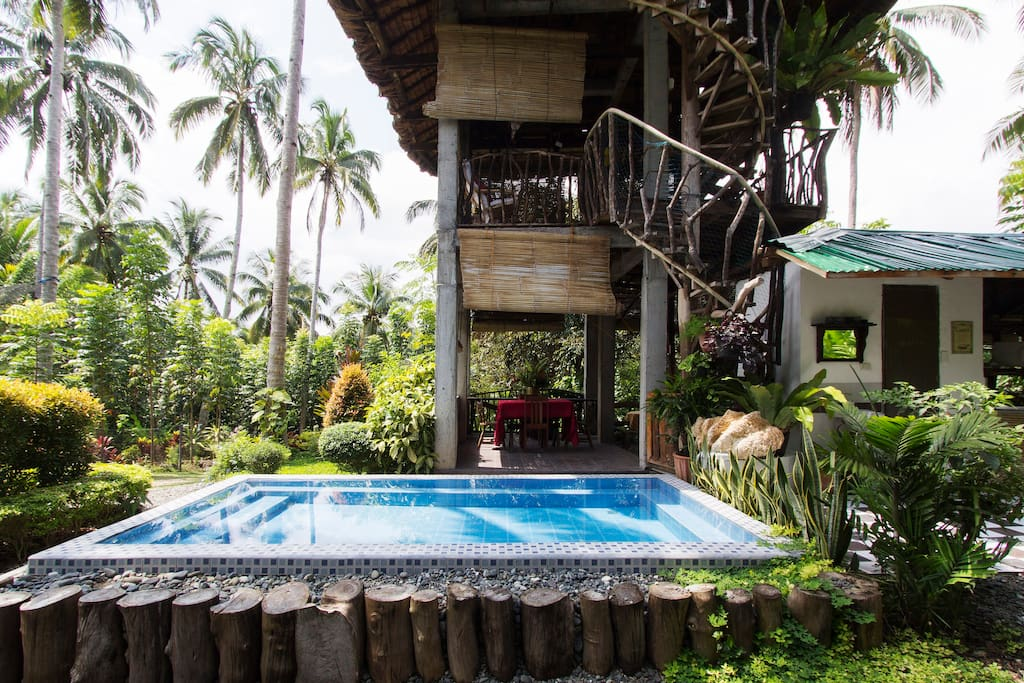 Tower Farmhouse With Pool Houses For Rent In Island Garden City Of Samal Davao Region