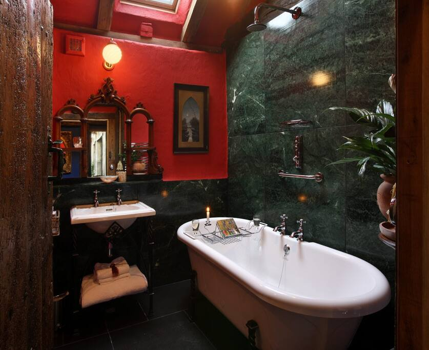 granite-lined 'period' wet room/bathroom,