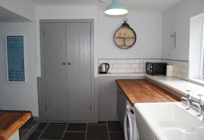 An Tigh Cottage Isle of Seil - wood burning stove