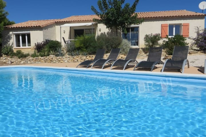 Private villa with swimming pool in beautiful natural surroundings