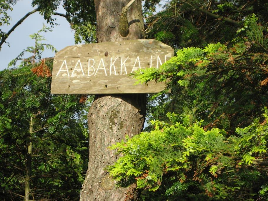 Aabakkajn, Bornholmsk name of the place