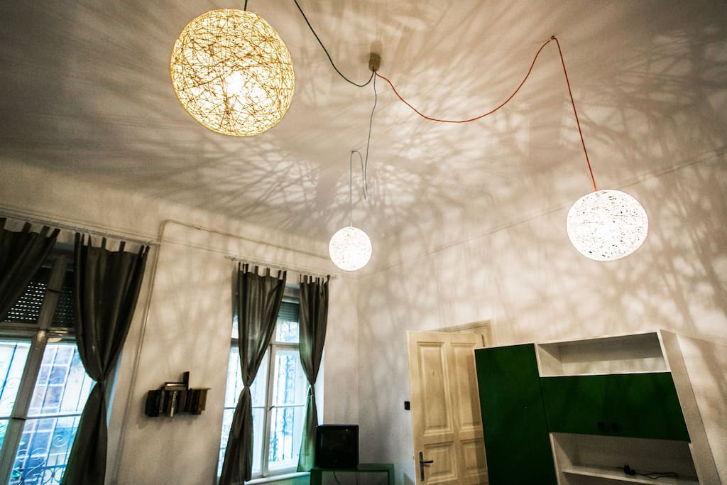 These design lamps are made from thread and some glue:)