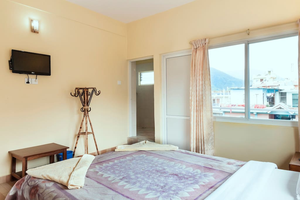 Single room with private balcony, top floor