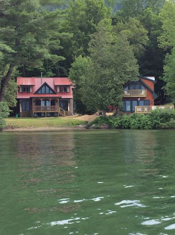 Adjacent Lakefront Homes/Beach/Dock on Lake George