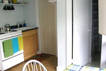 Kitchen and pantry behind closed door