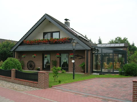 Schöne *** Ferienwohnung Haus Wiesengrund Lehmrade