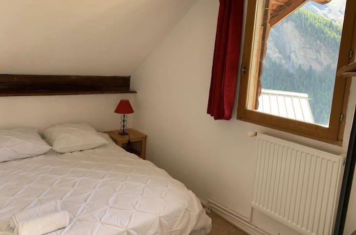 Chambre Double au Chant de l'Alpe à Saint-Véran