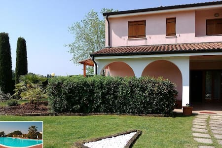 Dream House in Cola at Lazise at Lake Garda with private garden 580 m²