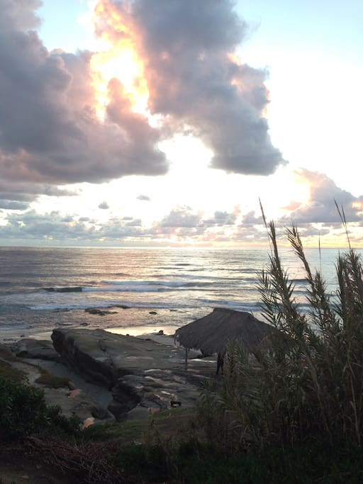 Windansea beach at sunset.
