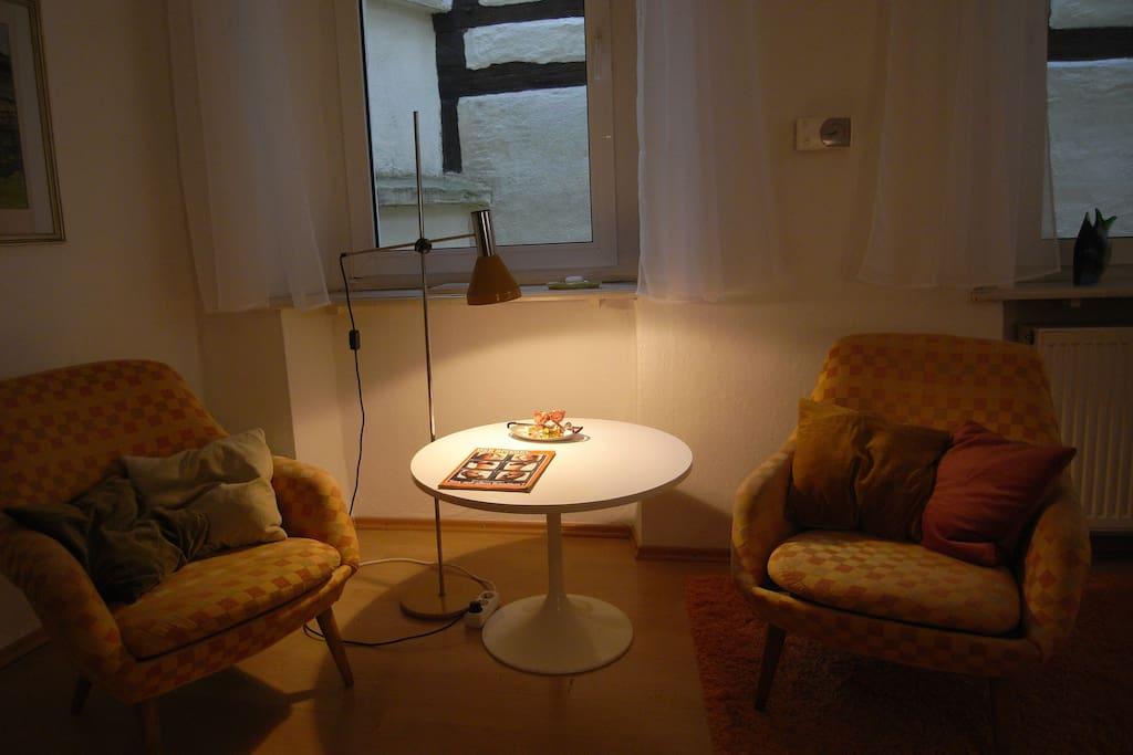 Cozy lounge corner.