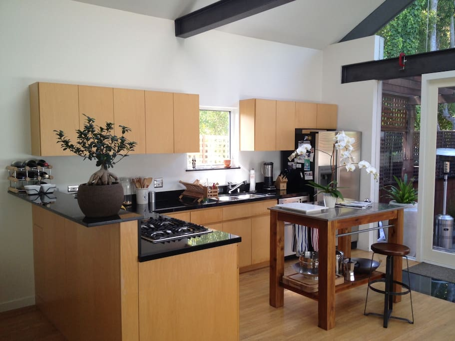 Kitchen leading to the outdoor patio