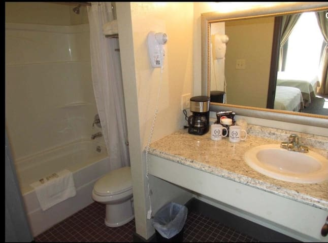 Each room has its own private bathroom