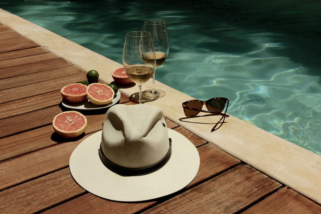 Enjoy vermouth time by the pool.