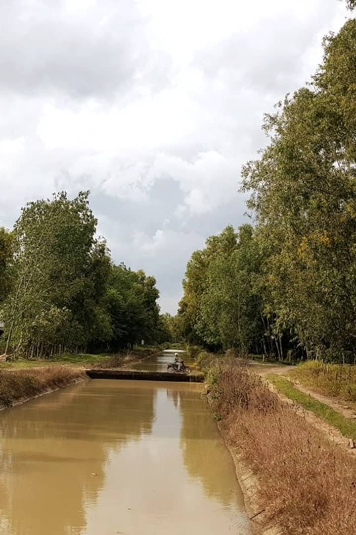 Canals leading to tunnels