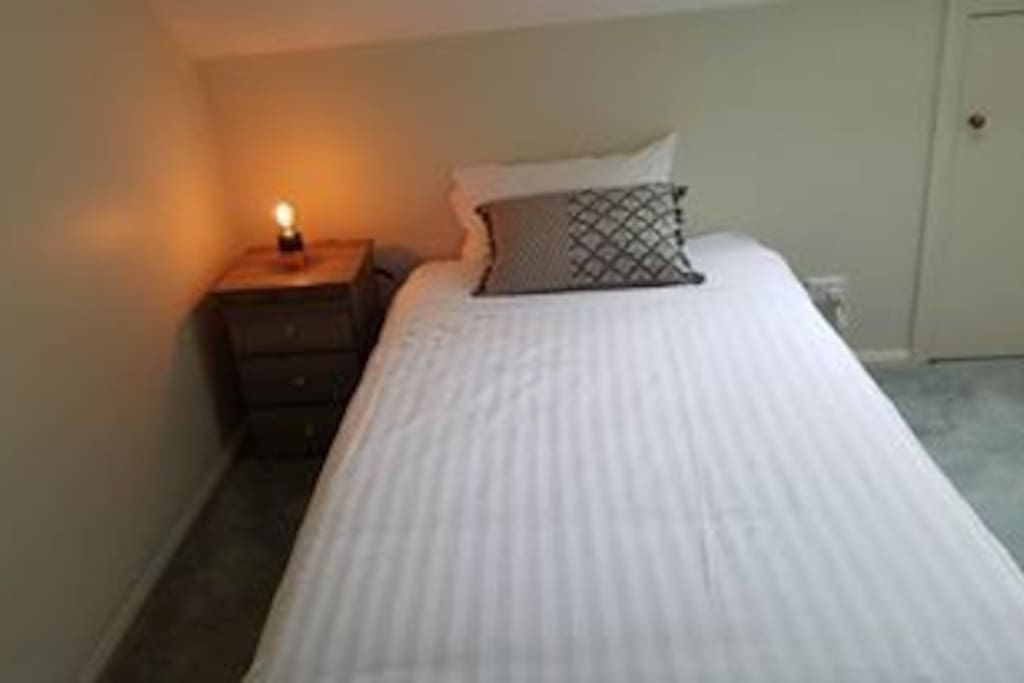 King single bed upstairs
