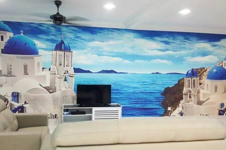 Santorini Homestay Malacca - 马六甲 - 独立屋