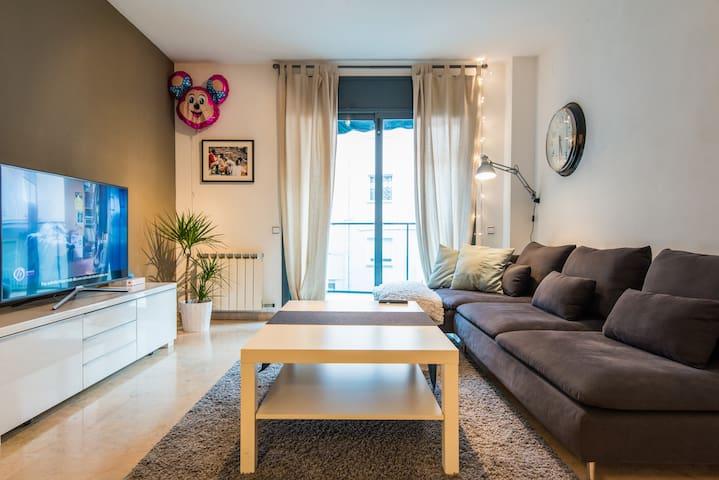 Amplia habitación doble a 35´ del Barcelona - Mollet del Vallès - Apartamento