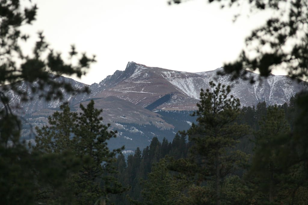 View of Pike's Peak from the deck