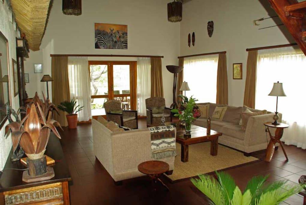 livingroom van het vakantiehuis