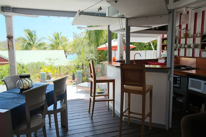 Bungalow sea view St Martin - Cul-de-Sac - Rumah