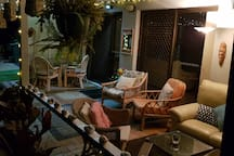 Very comfortable outdoor lounge and dining area. Perfect for our Sydney weather.