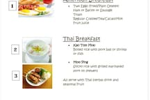 Our breakfast menu, please choose one and reserve before you arrived