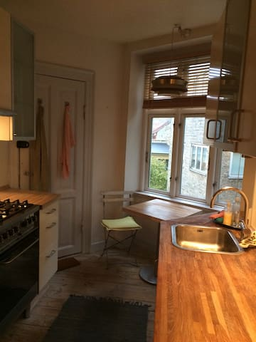 Cozy kitchen with small breakfast table