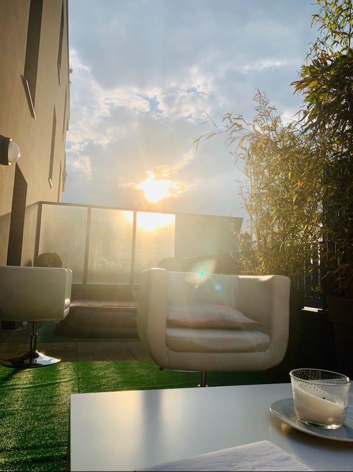 Bel appartement design Rennes Bed and breakfast