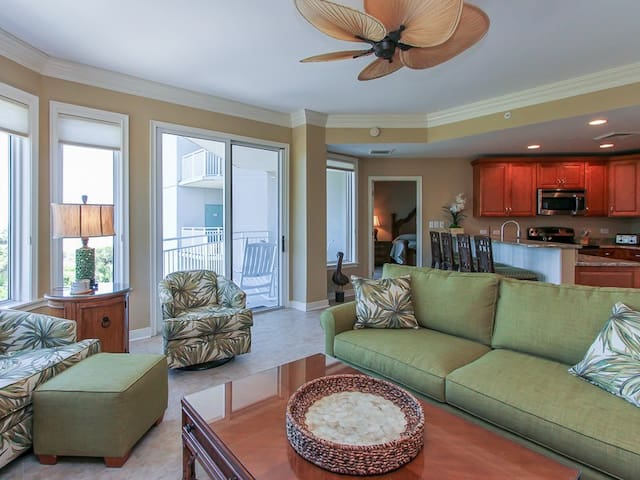 Living Area with Ocean Views at 2315 Sea Crest