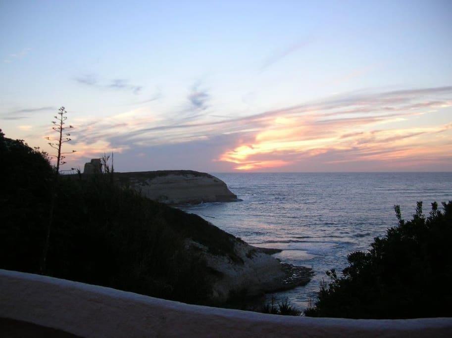 tramonto dalla terrazza