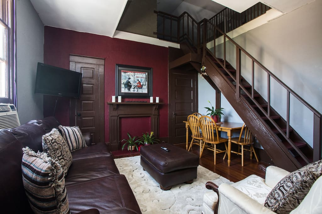 Stairs to guests bedroom