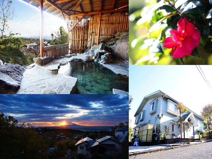 ■7室限定の隠れ家お宿■ハリウッドツインルーム■伊豆の絶景・天然温泉・BBQ■