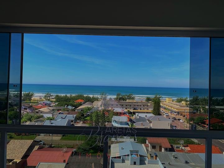 Apto-NOVO-SmartTV-Vista para o mar-Piscina-Ar Cond