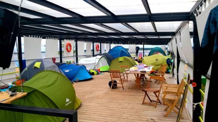 Tents in hostel