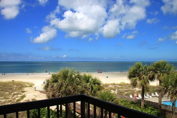 Beach & Gulf View Unit with Balcony, New Kitchen & Bath - Free WiFi -  Surf Song - #347 Surf Song Resort