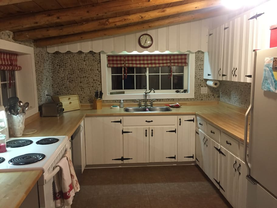 Kitchen-Attached to main cabin