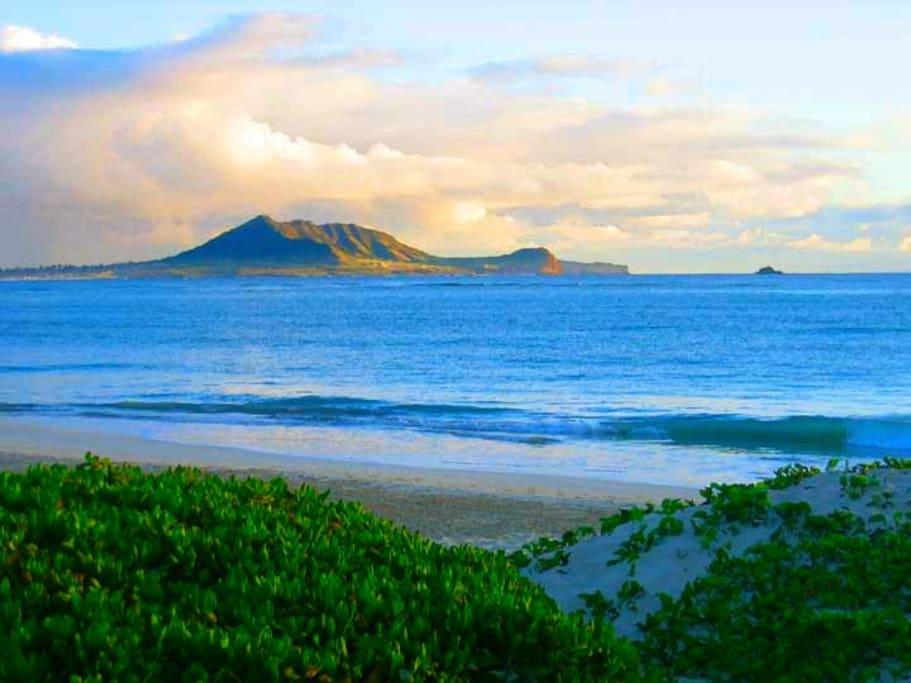 Kailua Beach at sunrise.