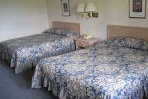 Each room is large and spacious with two comfortable queen sized beds.