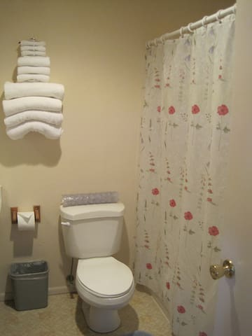 The bathrooms are large and very clean, you will be comfortable while away from home.