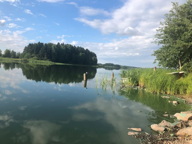 Picture from lake near by during summer